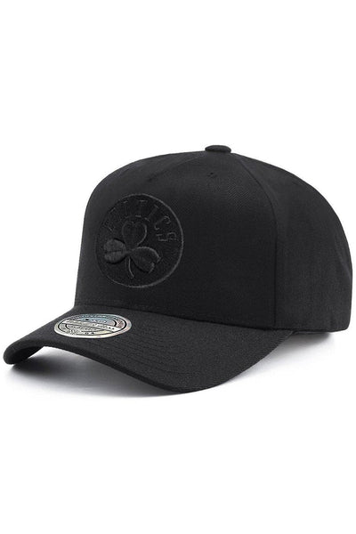 MITCHELL & NESS CAPS MITCHELL & NESS 'CELTICS' 110 FLEX SNAPBACK CAP - BLACK