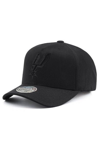 MITCHELL & NESS CAPS MITCHELL & NESS 'SPURS' 110 FLEX SNAPBACK CAP - BLACK