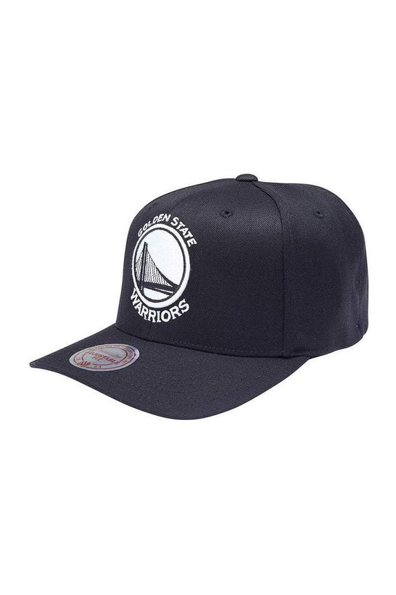 MITCHELL & NESS HEADWEAR MITCHEL & NESS GOLDEN STATE WARRIORS 110 FLEX SNAP BACK - BLACK/WHITE