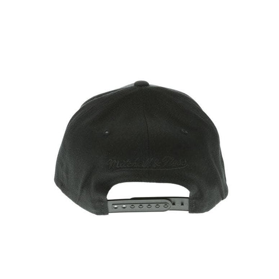MITCHELL & NESS HEADWEAR MITCHELL & NESS BROOKLYN NETS PINCH 110 FLEX SNAPBACK - BLACK/BLACK