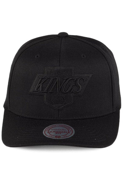 MITCHELL & NESS HEADWEAR MITCHELL & NESS L.A. KINGS PINCH 110 FLEX SNAPBACK - BLACK/BLACK