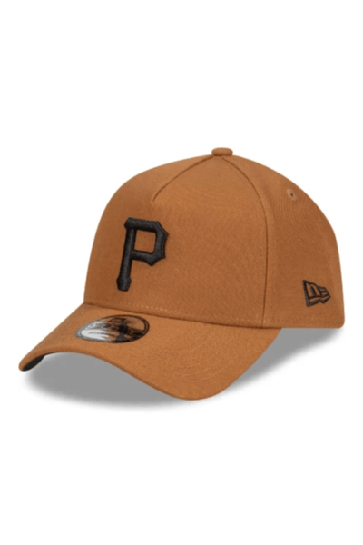 MITCHELL & NESS HEADWEAR NEW ERA A FRAME PITTSBURGH PIRATES SNAPBACK CAP - CAMEL