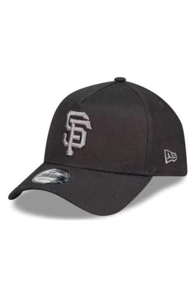 MITCHELL & NESS HEADWEAR NEW ERA A-FRAME SAN FRAN GIANTS SNAPBACK CAP - BLACK