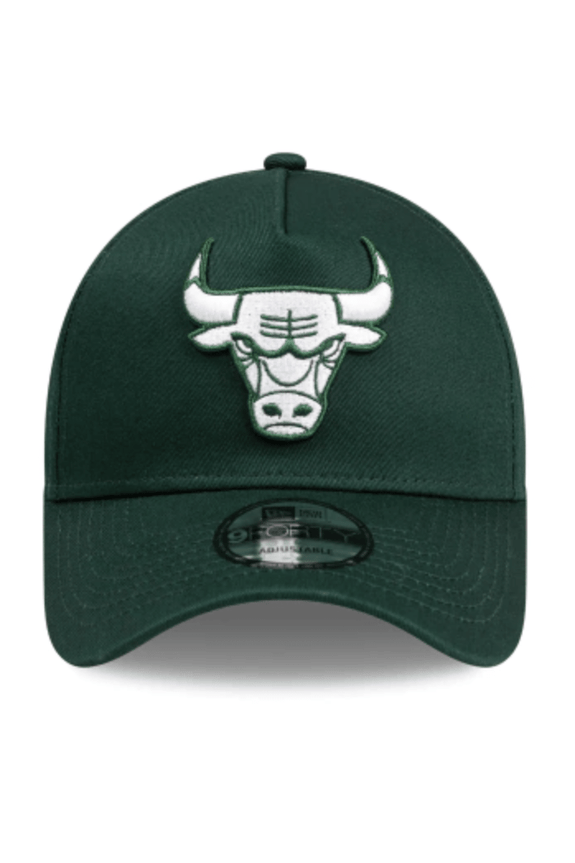MITCHELL & NESS HEADWEAR NEW ERA A FRAME SNAPBACK CAP BULLS - FOREST