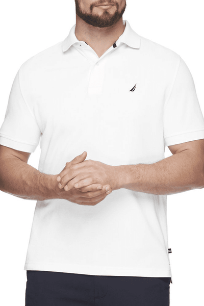 NAUTICA POLO XS NAUTICA SHORT SLEEVE SOLID POLO - BRIGHT WHITE