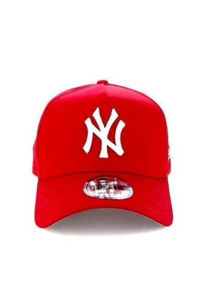 NEW ERA HEADWEAR NEW ERA 9FORTY A-FRAME 'NEW YORK' - BRIGHT RED