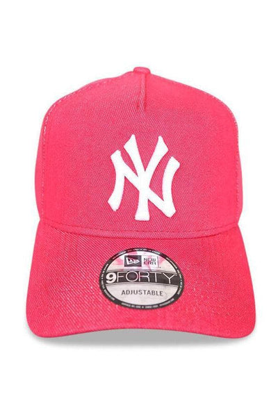 NEW ERA HEADWEAR NEW ERA 9FORTY A-FRAME 'NY' - DENIM RED