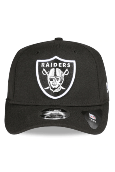 NEW ERA HEADWEAR NEW ERA RAIDERS 9FIFTY STRETCH FIT - BLACK