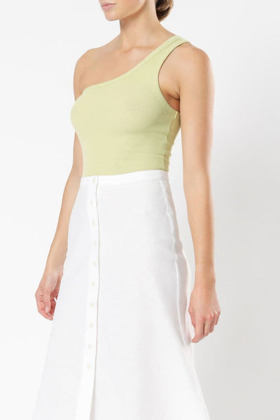 NUDE LUCY LADIES PANTS NUDE LUCY FINLEY RIBBED TANK - CELERY