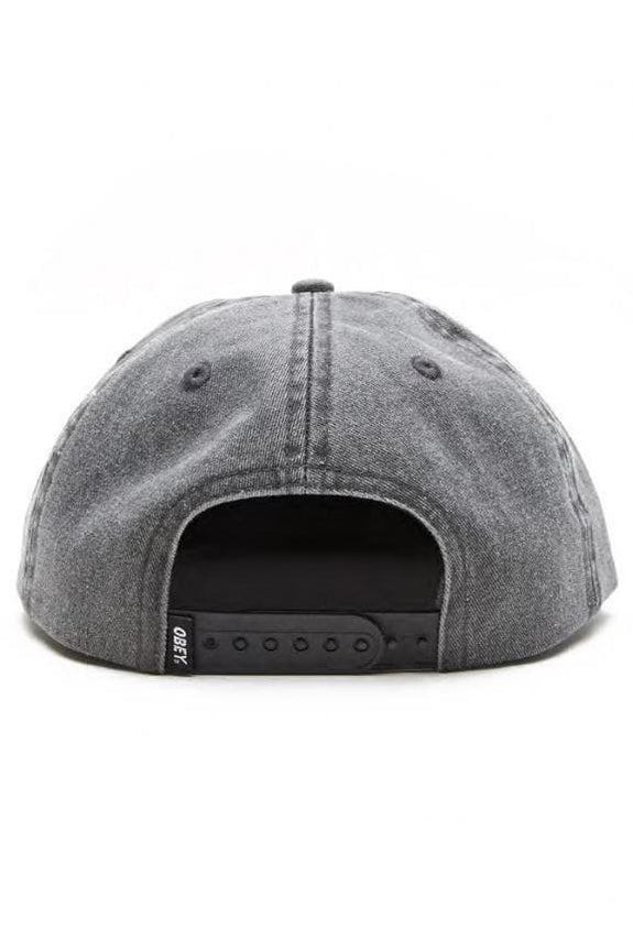 OBEY HEADWEAR OBEY CULVER 6 PANEL SNAPBACK - BLACK