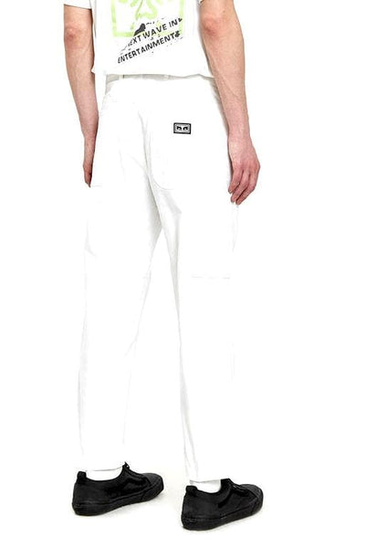 OBEY JEANS OBEY STRAGGLER CARPENTER PANT III - WHITE