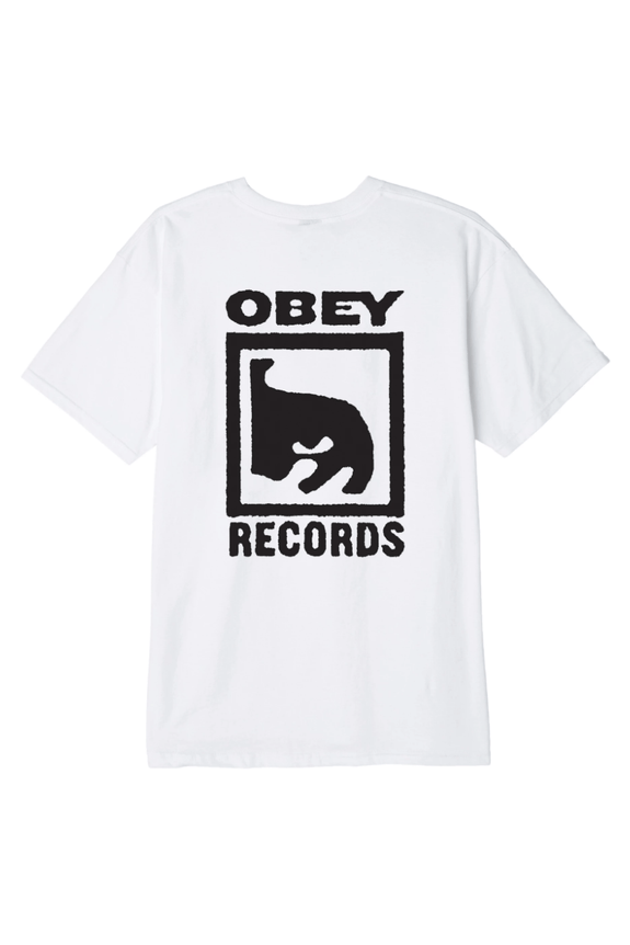 OBEY TEES OBEY RECORDS ICON TEE -  WHITE