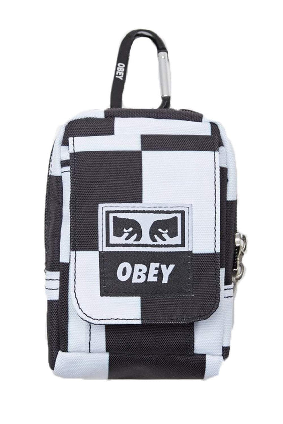 OBEY WALLET OBEY DROP OUT SMALL UTILITY BAG - CHECKER