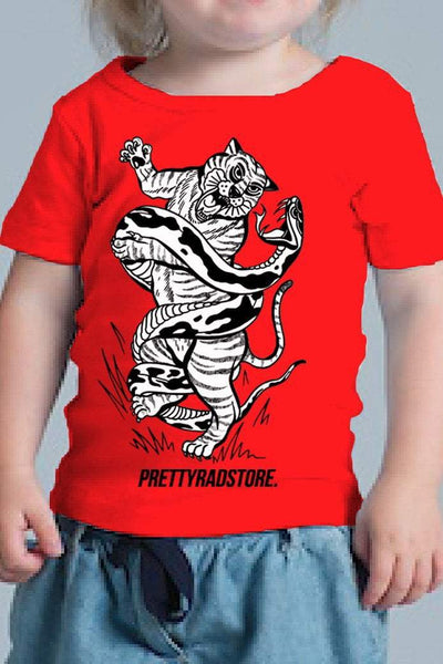 Pretty Rad Store KIDS PRS TIGER WEE TEE - RED
