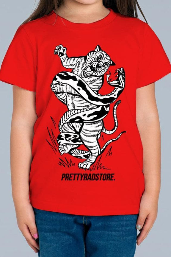 Pretty Rad Store KIDS PRS TIGER YOUTH TEE - RED