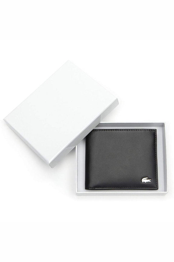 Pretty Rad Store LACOSTE BILLFOLD LEATHER COIN WALLET - BLACK