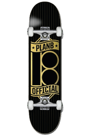 "Pretty Rad Store SKATEBOARD PLAN B COMPLETE SKATE DECKS 8.25"" - OFFICIAL PINSTRIPE"