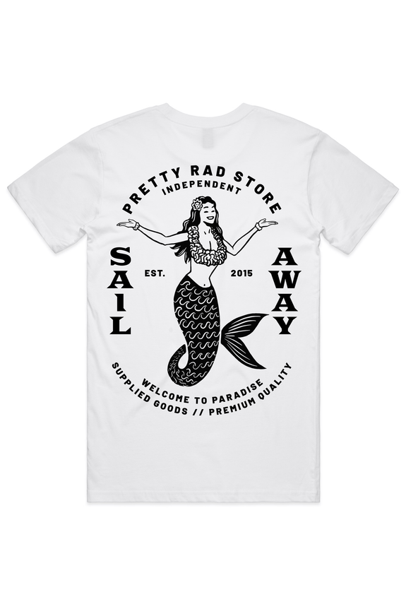 Pretty Rad Store TEES PRS MERMAID TEE - WHITE