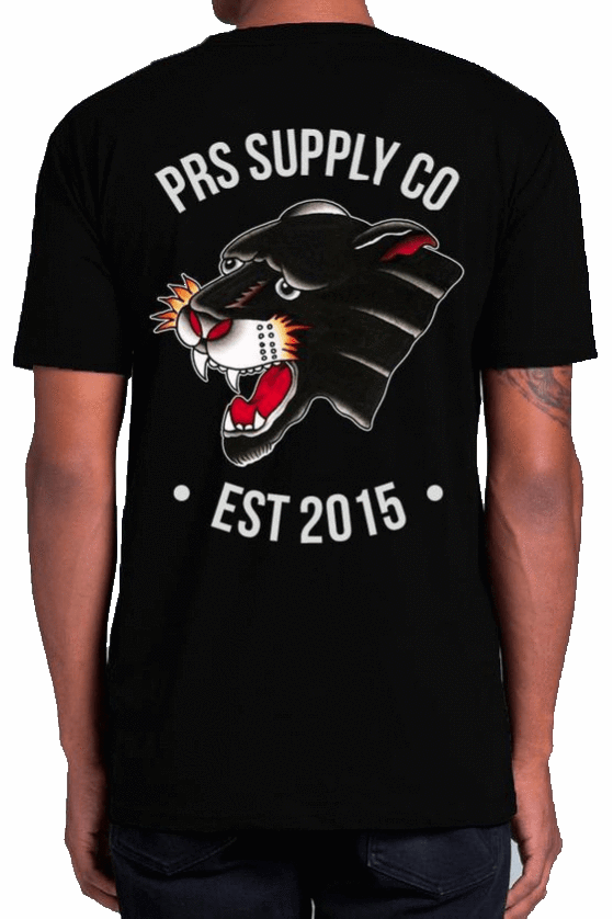 Pretty Rad Store TEES PRS SUPPLY CO PANTHER TEE - BLACK
