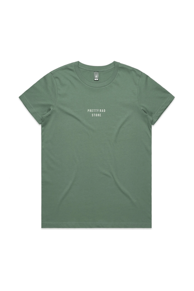 Pretty Rad Store TOPS PRS SUPPLY WOMENS EMBROIDERED TEE - SAGE