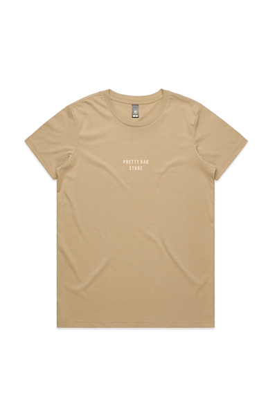 Pretty Rad Store TOPS PRS SUPPLY WOMENS EMBROIDERED TEE - SAND