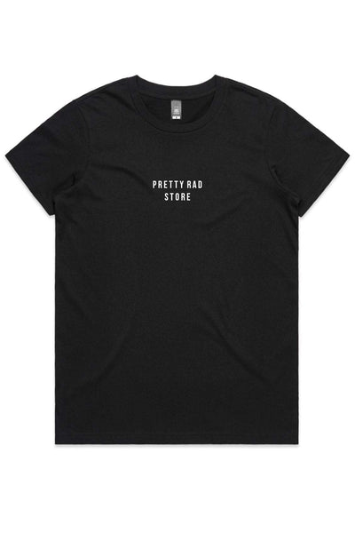 Pretty Rad Store TOPS PRS SUPPLY WOMENS TEE - BLACK
