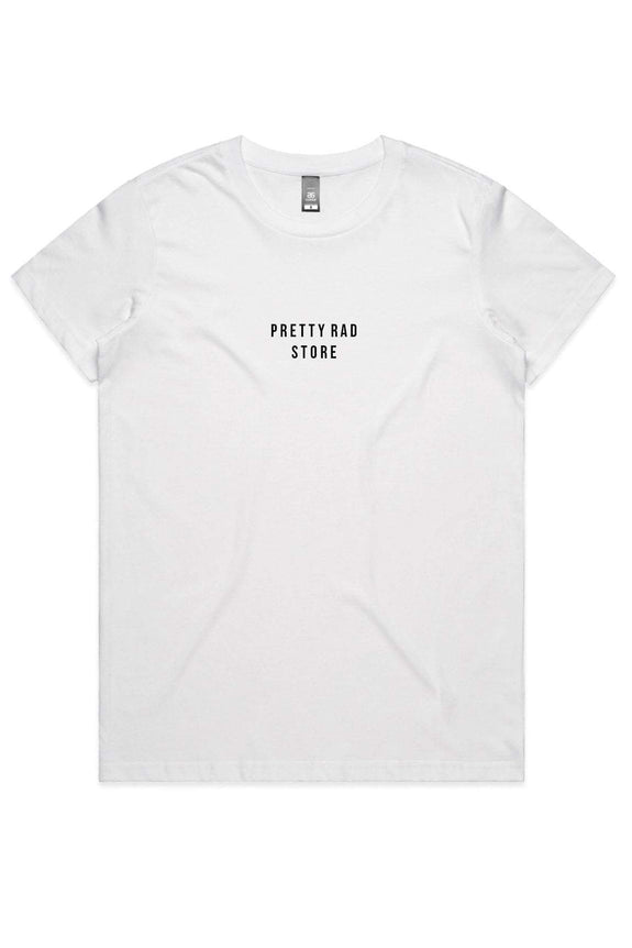 Pretty Rad Store TOPS PRS SUPPLY WOMENS TEE - WHITE