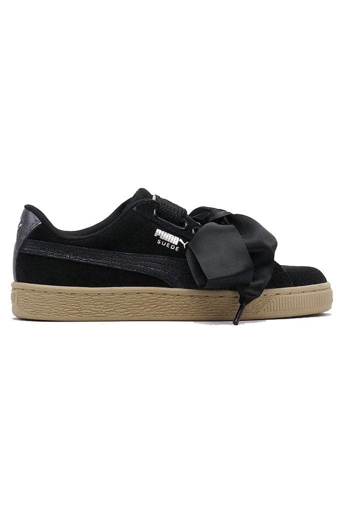 on sale 65409 32bd3 PUMA SUEDE HEART SAFARI - BLACK/TAN
