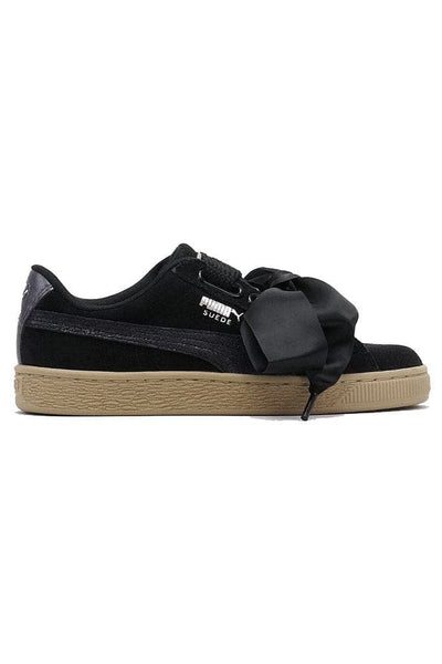PUMA FOOTWEAR PUMA SUEDE HEART SAFARI - BLACK/TAN