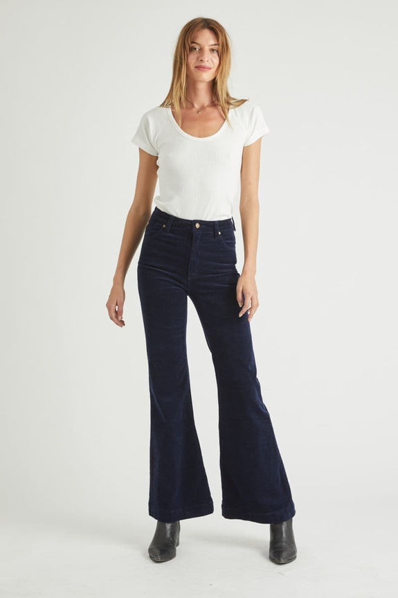 ROLLAS LADIES JEANS ROLLAS EAST COAST FLARE - MIDNIGHT CORD