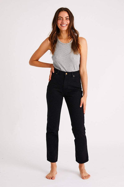 ROLLAS LADIES JEANS ROLLAS ORIGINAL STRAIGHT JEAN - ASH BLACK