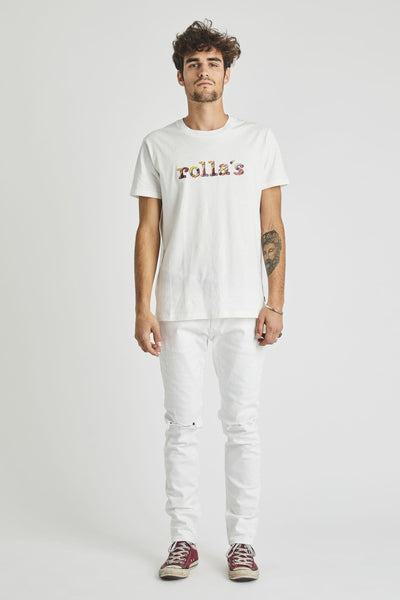 ROLLAS LADIES PANTS ROLLAS RAINBOW SERPENT TEE - WHITE