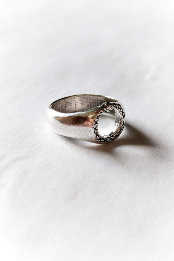 SUE THE BOY JEWELLERY SUE THE BOY OUROBOROS II RING - 925 STERLING SILVER