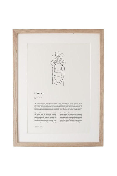 SUNDAY LANE ARTWORK SUNDAY LANE ZODIAC 02 PRINT - CANCER