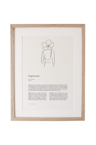 SUNDAY LANE ARTWORK SUNDAY LANE ZODIAC 02 PRINT - CAPRICORN