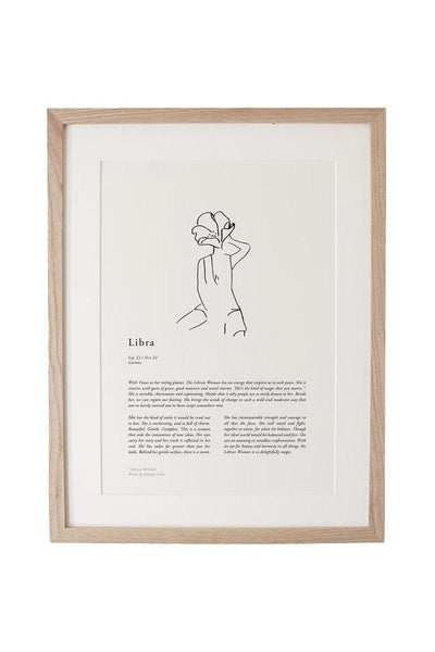 SUNDAY LANE ARTWORK SUNDAY LANE ZODIAC 02 PRINT - LIBRA