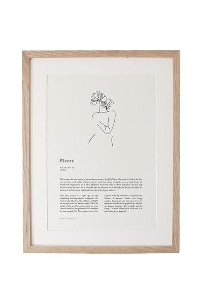 SUNDAY LANE ARTWORK SUNDAY LANE ZODIAC 02 PRINT - PISCES