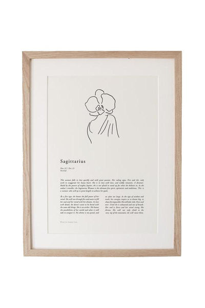 SUNDAY LANE ARTWORK SUNDAY LANE ZODIAC 02 PRINT - SAGITTARIUS