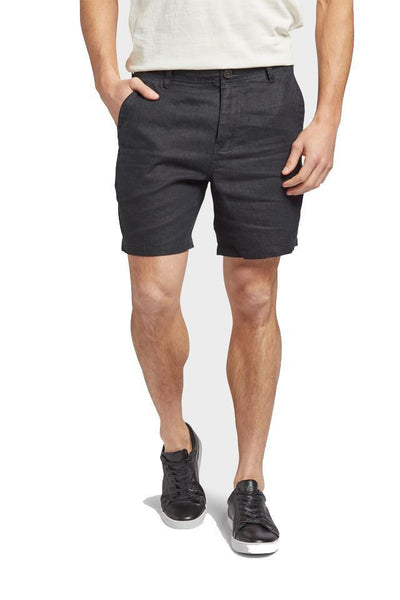 The Academy Brand SHORTS THE ACADEMY BRAND MARCO LINEN SHORT - BLACK
