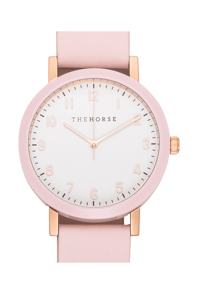 THE HORSE WATCHES THE HORSE 'ORIGINAL 2.0' WATCH - PINK/ WHITE FACE
