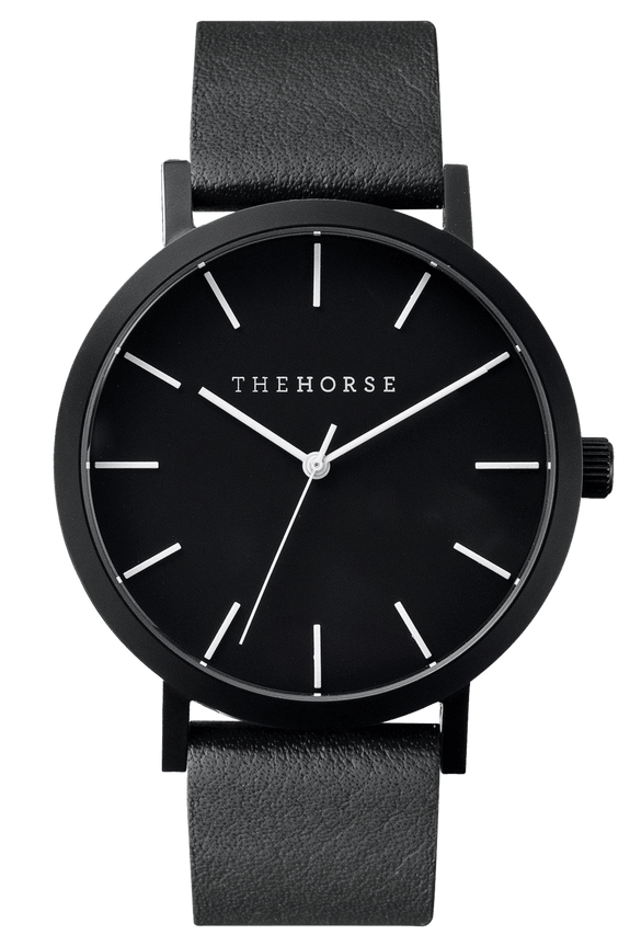 THE HORSE WATCHES THE HORSE 'THE ORIGINAL' WATCH - ALL BLACK