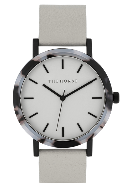 THE HORSE WATCHES THE HORSE 'THE RESIN' WATCH - BLONDE TORT/GREY DIAL/GREY LEATHER