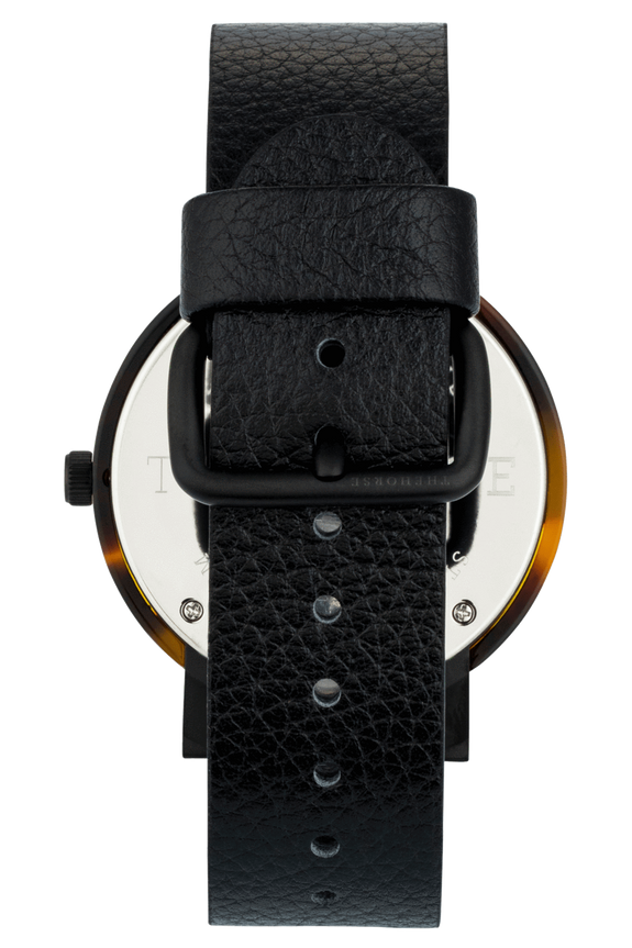 THE HORSE WATCHES THE HORSE 'THE RESIN' WATCH - BROWN TORT/BLACK FACE/BLACK LEATHER