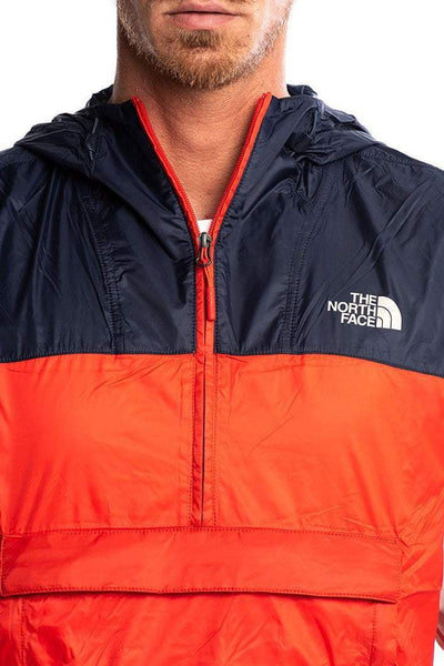 THE NORTH FACE JACKETS THE NORTH FACE ANORAK SPRAY JACKET - RED/WHITE