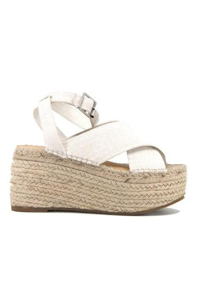 THERAPY SHOES SANDALS & HEELS THERAPY SHOES ANOUK PLATFORM - NATURAL LINEN