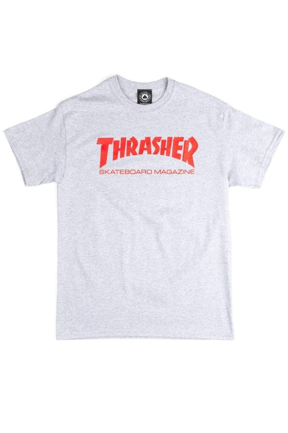 THRASHER MAGAZINE TEES THRASHER SKATE MAGAZINE LOGO - GREY