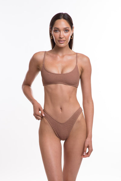 TJ SWIM SWIMWEAR TJ SWIM CARA BOTTOMS - MOCHA