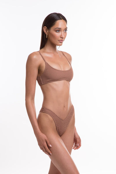 TJ SWIM SWIMWEAR TJ SWIM CARA TOP - MOCHA