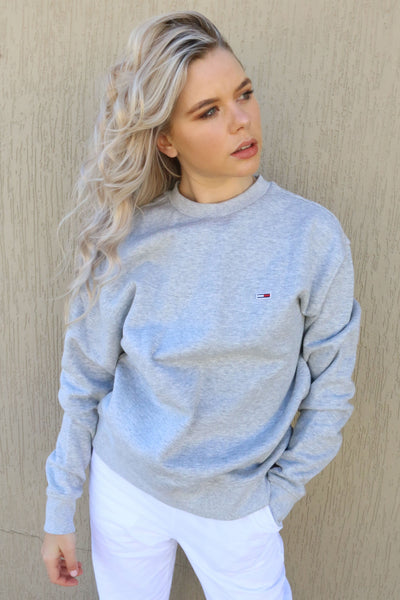 TOMMY JEANS JUMPER TOMMY JEANS CLASSIC SWEATER - GREY