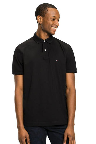 TOMMY JEANS POLO TOMMY HILFIGER REGULAR POLO TEE - BLACK